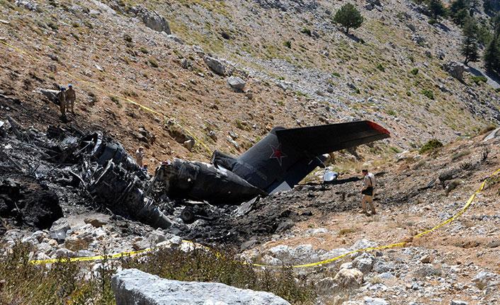 Kahramanmaraş'ta düşen Rus yangın söndürme uçağının enkazı gömüldü
