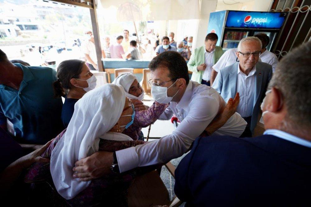 CHP lideri Büyükşehir Başkanları ile yangın bölgesinde