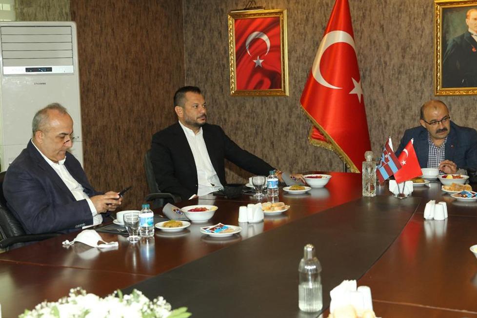 Ustaoğlu ve Aydoğan'dan Trabzonspor'a ziyaret
