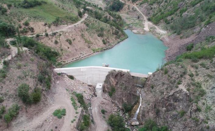Artvin'de yapılan barajda su tutulma işlemi başladı