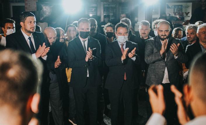 Ali Babacan'a Trabzon'da Coşkulu Karşılama