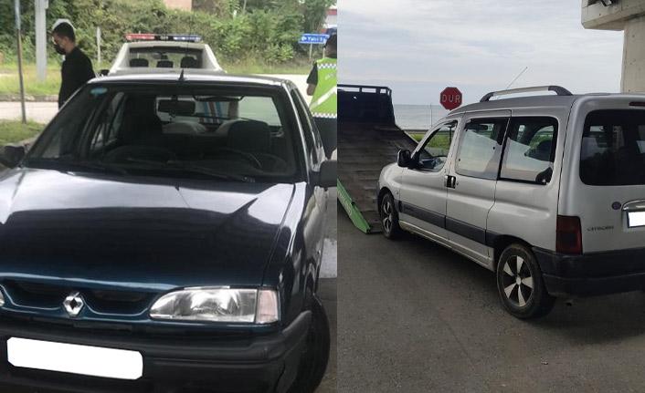 Trabzon'da korsan taksilere suçüstü