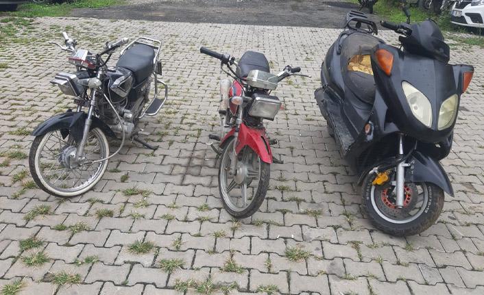 Gürültü yapan motosikletin çalıntı olduğu ortaya çıktı