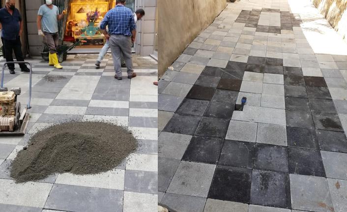 Ortahisar'da bir çok sokakta üst yapı yeniledi