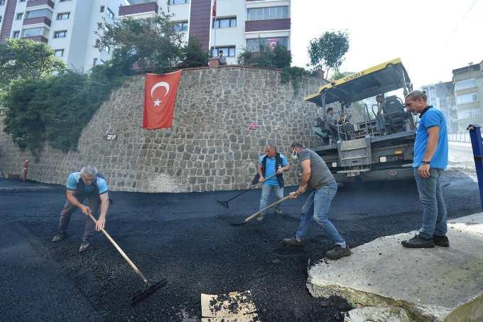 Beşirli'de tahrip olan yollar asfaltlandı