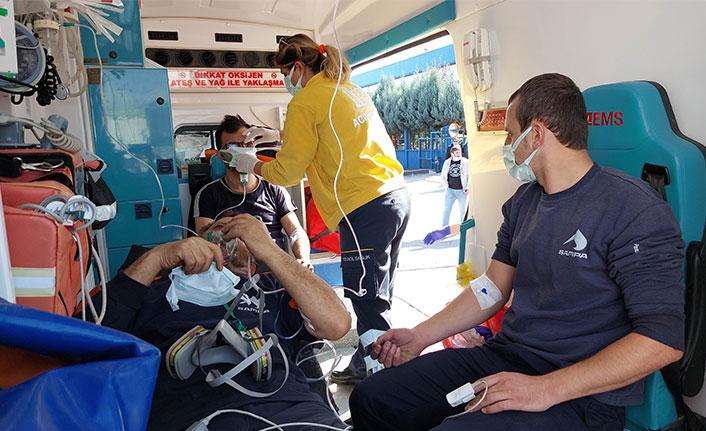 Otomotiv fabrikasında yangın paniği 19 işçi hastanelik oldu