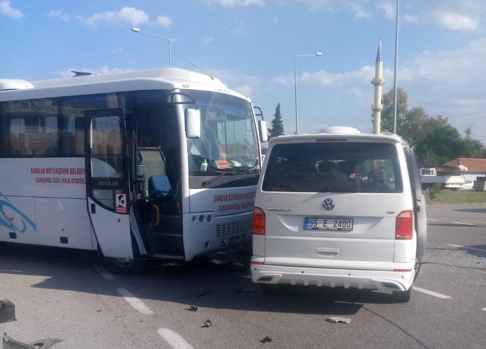 Samsun'da 3 araç birbirine girdi! 5 kişi yaralandı