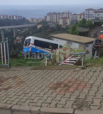 Trabzon'da kaza! Park halindeki araç kaydı