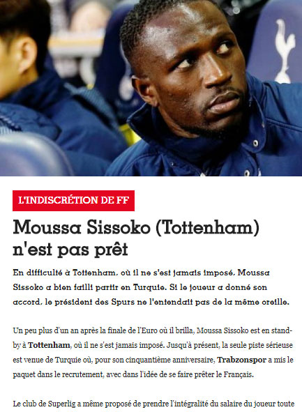 Fransız basınından Sissoko iddiası