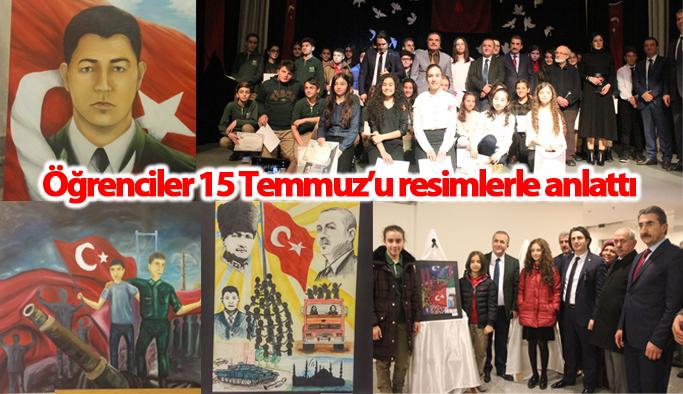 Trabzon'da 15 Temmuz şehitleri resim yarışması sergisi düzenlendi