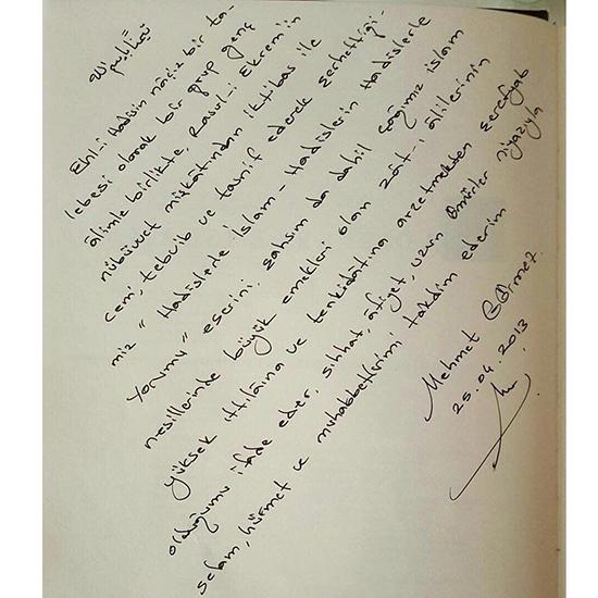 Mehmet Görmez'den FETÖ'ye şok mektup!