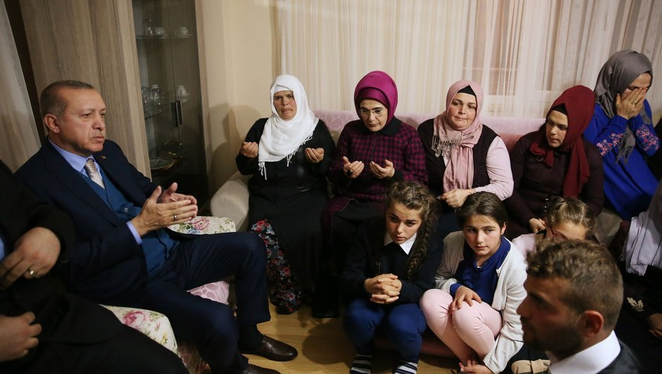Cumhurbaşkanı Erdoğan Eren Bülbül'ün ailesine ziyaret