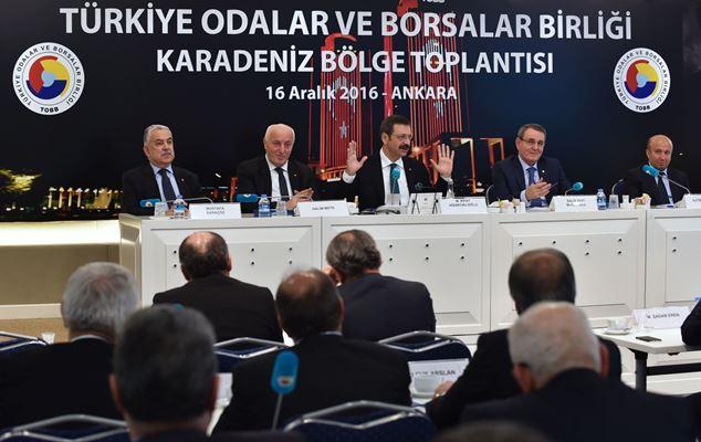 TOBB Karadeniz Bölge Toplantısı yapıldı