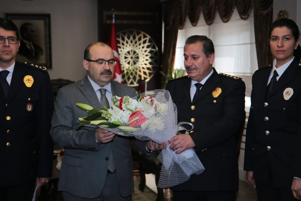 Emniyet Teşkilatı'ndan Vali Ustaoğlu ve Başkan Zorluoğlu'na ziyaret