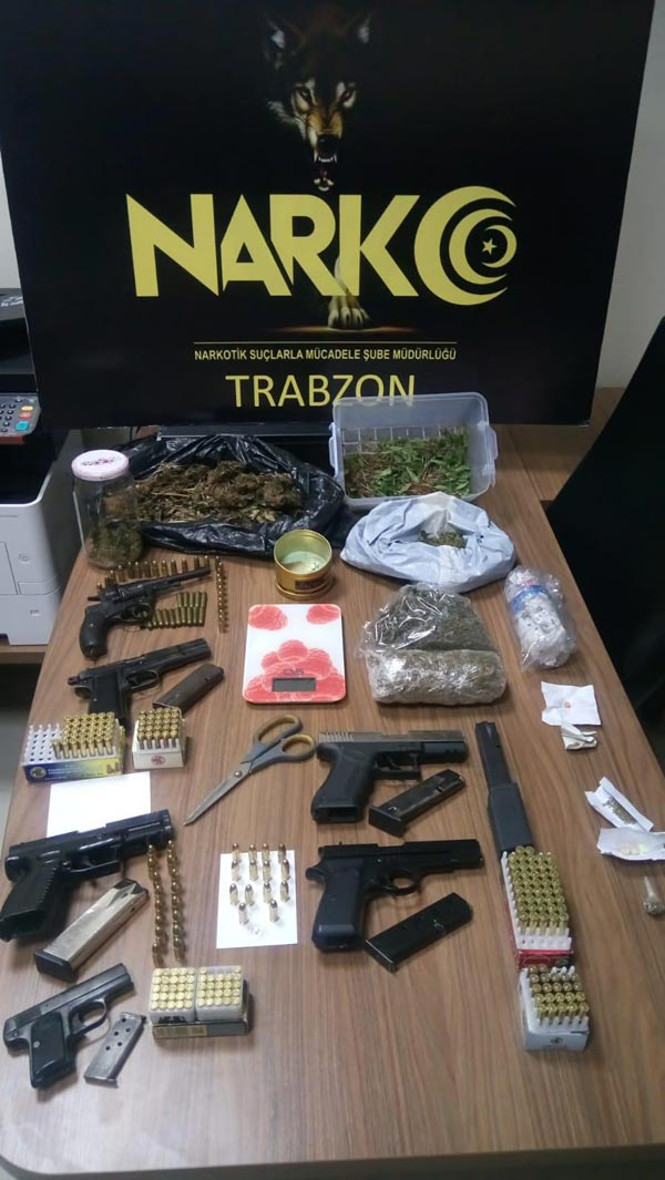 Trabzon'da uyuşturucu operasyonu - 13 kişi yakalandı