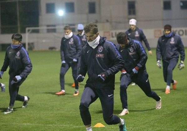 Trabzonspor'da kupa mesaisi devam ediyor.