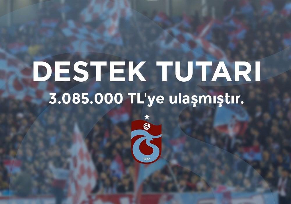 Trabzonspor destek kampanyasında son durum