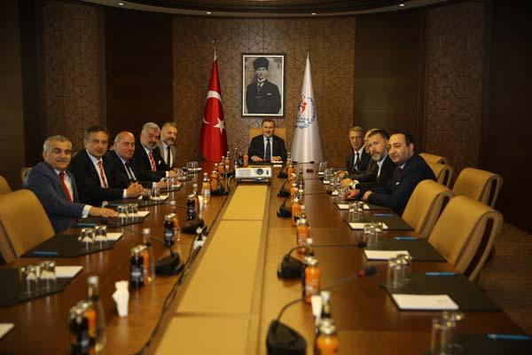 Trabzonspor yönetiminden Bakan Bak'a ziyaret