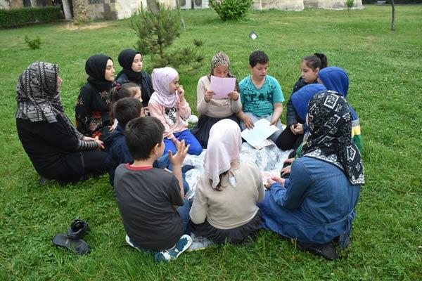 Trabzon'da Suriyeli çocuklardan Hazreti Muhammed'e mektup