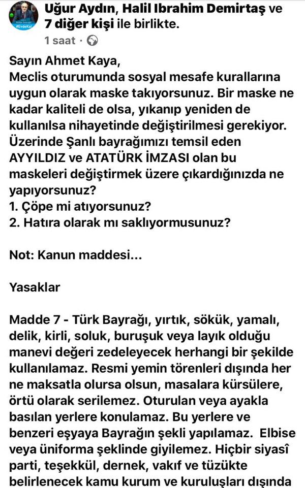 AK Parti ve CHP arasında maske polemiği...