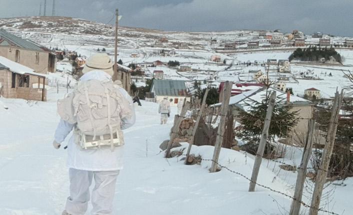 Doğu Karadeniz'de eksi 10 derecede terörle mücadele
