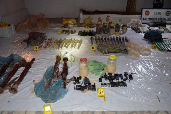 PKK'nın mühimmat deposu bulundu