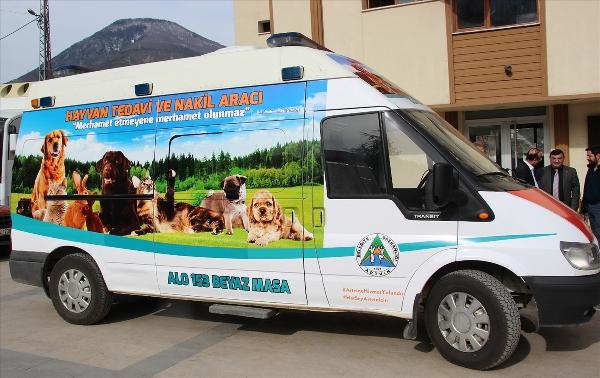 """Hayvan ambulansı """"haybulans"""" hizmete girdi"""