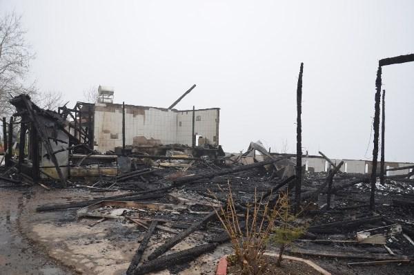 Ordu'da Kasap ve et lokantası tesisi alev alev yandı