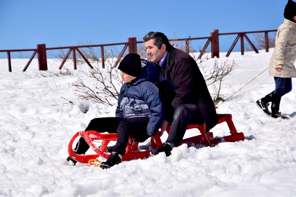 Off-road tutkunları kar festivalinde buluştu