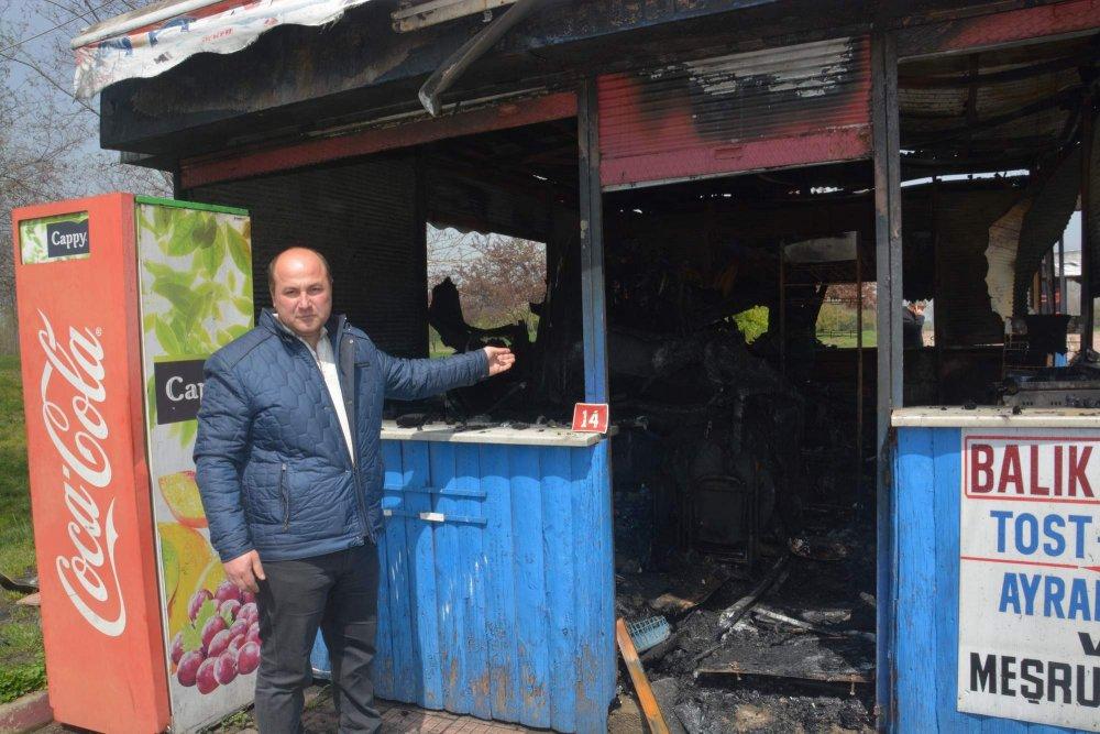 Trabzon'da emekleri küle çeviren yangın