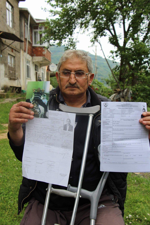 Trabzon'da engelli vatandaşa şok rapor