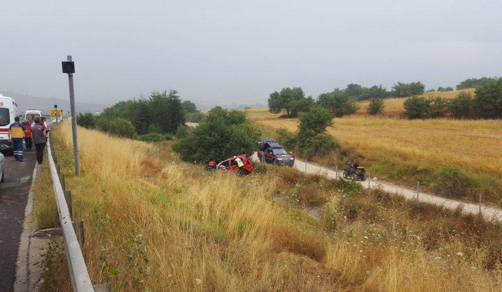 Trabzon'a gelirken şarampole yuvarlandı: 2 Ölü 4 Yaralı