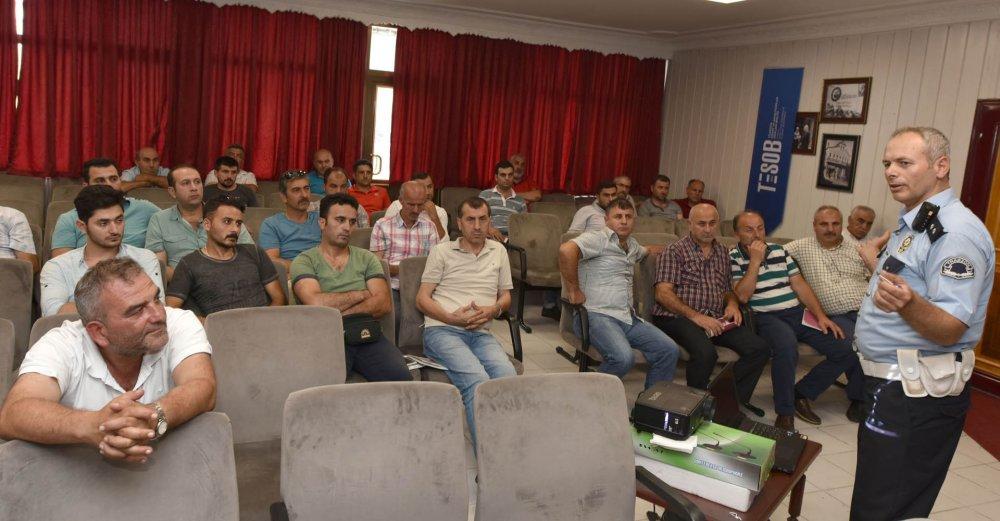 Trabzon'da 6 şoföre eğitim