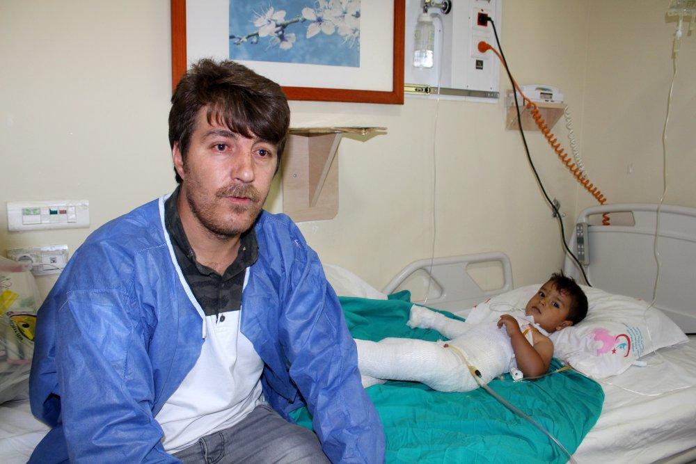 Tandıra düşen 2 yaşındaki çocuğun bacakları kesilebilir