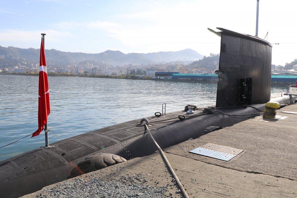 Sakarya denizaltısı Rize'de