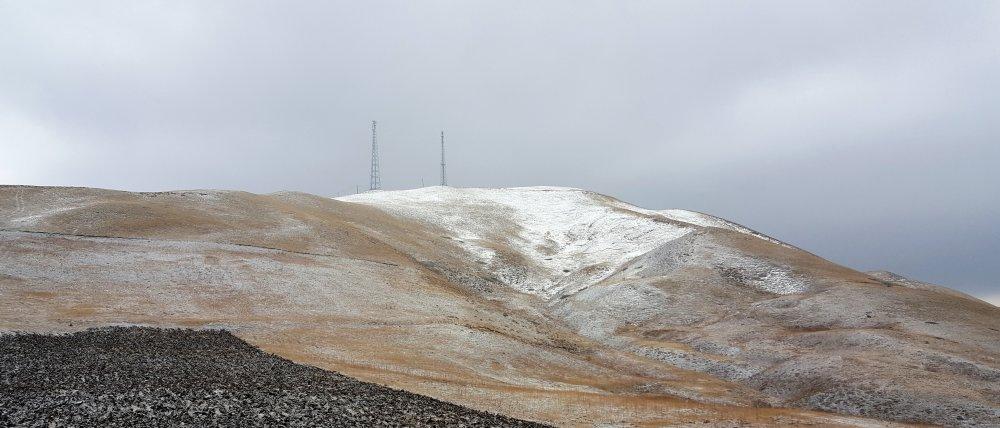 Kop dağı beyaza büründü