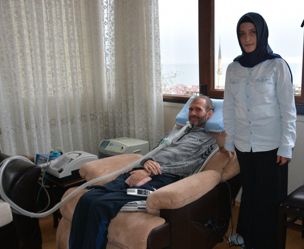 Trabzon'da ALS hastası öğretmenöğrencilerine selam var