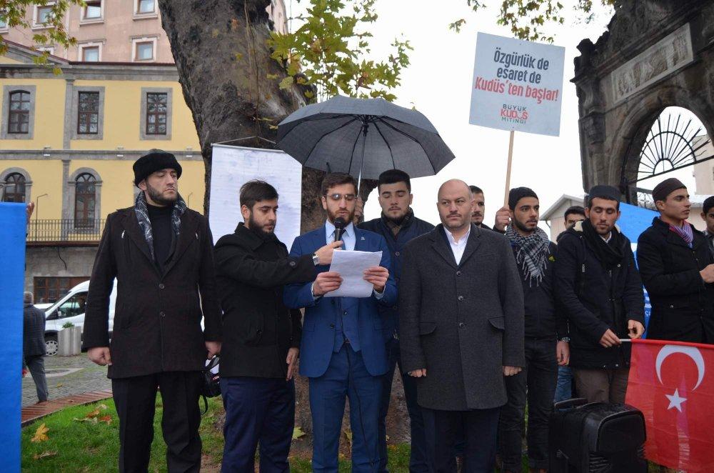 Trabzon'da Kudüs Protestosu