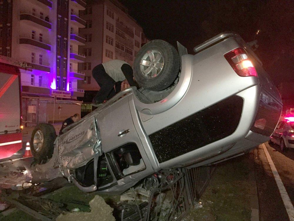 Samsun'da askeri araç devrildi: 2 yaralı