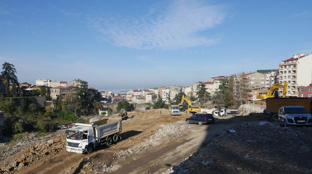 Trabzon'da tarihi meydan için çalışmalar başladı