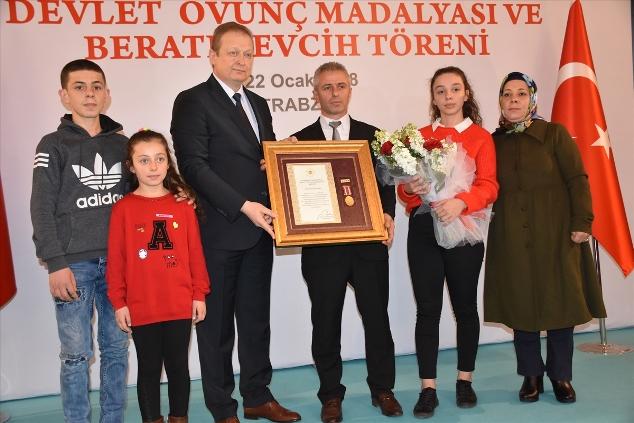 Trabzon'da tören yapıldı: Madalyalar verildi