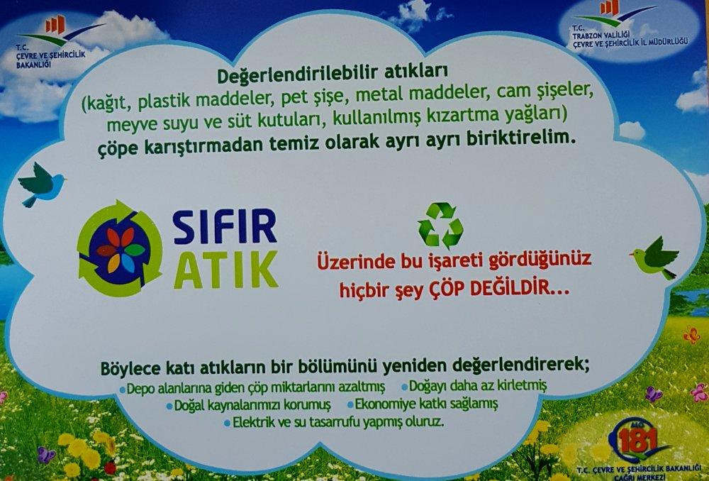 """Trabzon'da """"Sıfır Atık"""" projesi için eğitim"""