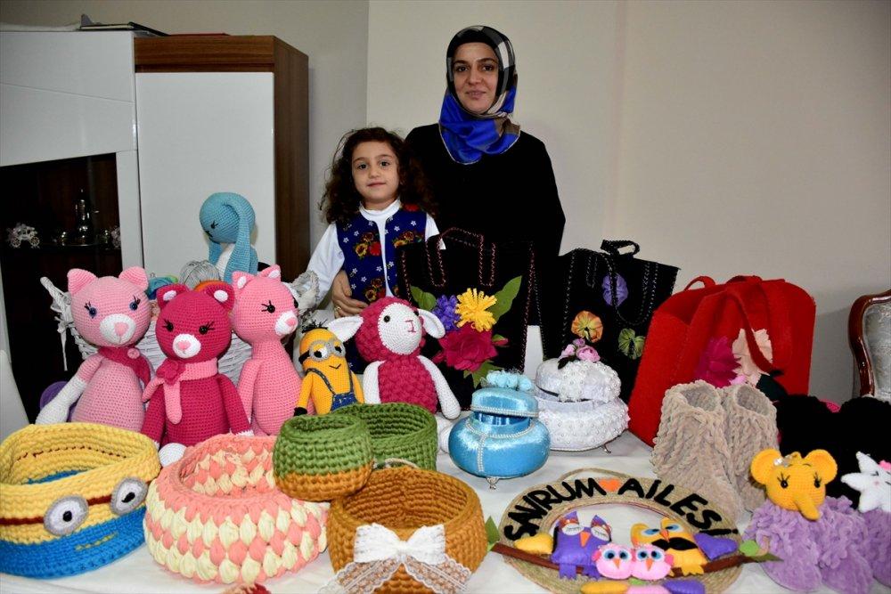 Trabzon'da ev hanımının marifeti gelir kapısı oldu
