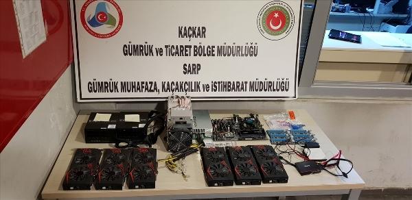 Sarp Sınır Kapısı'nda Bitcoin para maden cihazı yakalandı