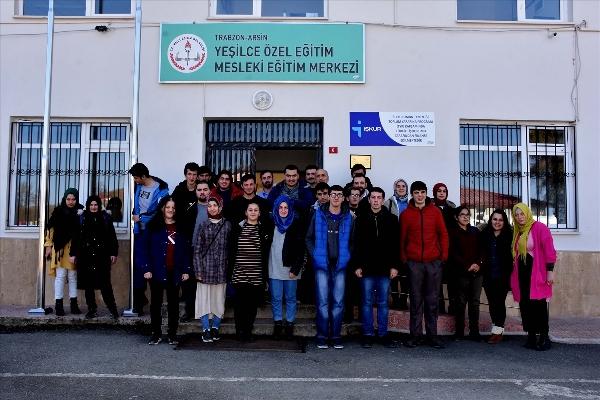 Trabzon'da özel gereksinimli öğrenciler meslek öğreniyor