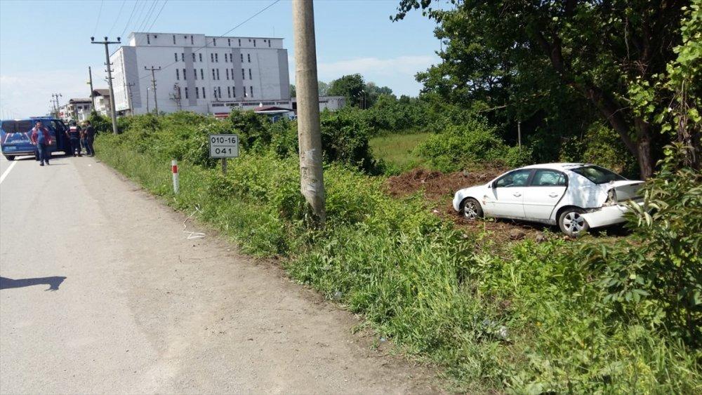 Cip önce otomobile sonra Trabzon plakalı kamyona çarptı
