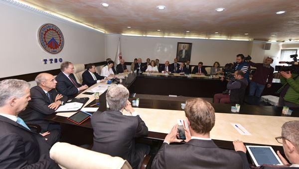 AB Büyükelçileri TTSO'yu ziyaret etti
