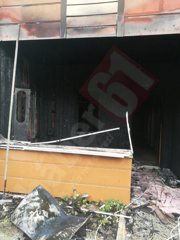 Trabzon'da yangın küle çevirdi