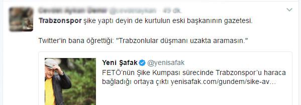 Trabzonspor'un eski başkanının gazetesinden skandal haber!