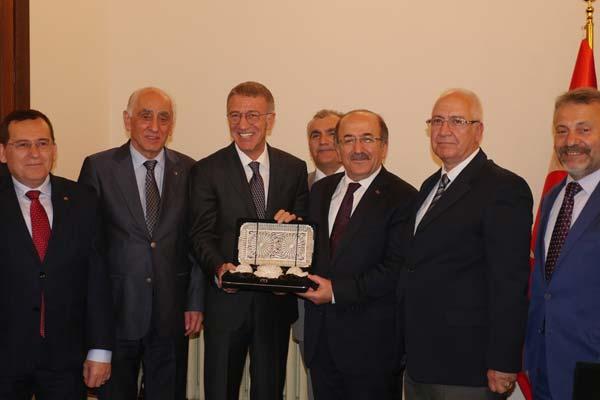 Trabzonspor'dan Gümrükçüoğlu'na ziyaret